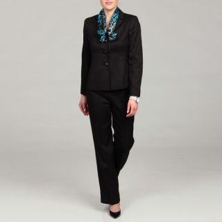 Le Suit Womens Black Three button Pant Suit  ™ Shopping
