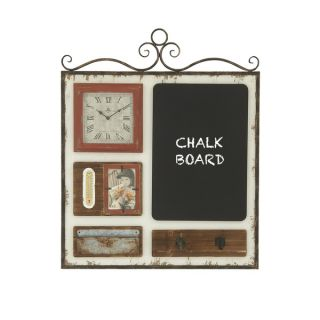 35 inch Shabby Chic Wall Frame With Clock   17346821