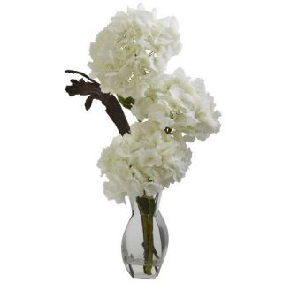 Nearly Natural Triple Hydrangea in Vase