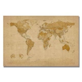 "16 in. x 24 in. ""Antique World Map"" Canvas Wall Art MT0001 C1624GG"