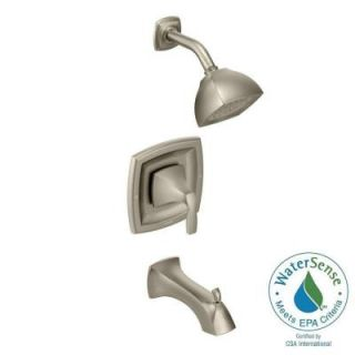 MOEN Voss Posi Temp Single Handle Tub and Shower Trim Kit in Brushed Nickel (Valve Sold Separately) T2693EPBN