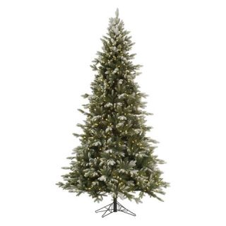 ft. Frosted Balsam Dura lit Artificial Christmas Tree   Clear