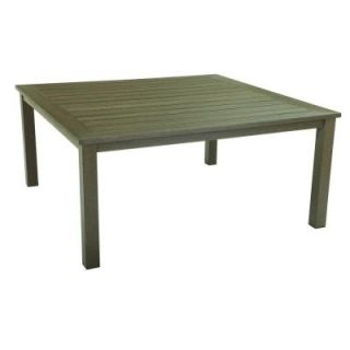 Hampton Bay Walnut Creek Durawood 40 in. Square Patio High Dining Table DISCONTINUED 2380200000