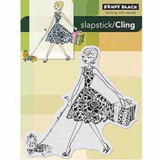 "Penny Black Cling Rubber Stamp, 4"" x 5 1/4"""