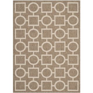Safavieh Indoor/ Outdoor Courtyard Brown/ Bone Polypropylene Rug (53