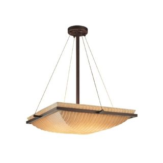 Justice Design Group Porcelina 3 light Ring Pendant Bowl, Sawtooth