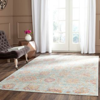 Safavieh Sevilla Light Blue/ Multi Viscose Rug (96 x 13)   17555567