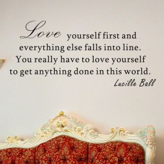 Love Yourself First Lucille Ball Wall Decal by Pop Decors