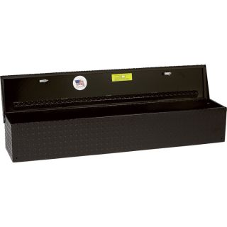 Aluminum Flush-Mount Side-Bin Truck Box — Black, A48 1/2in.; B12 1/2in.; C10 1/2in.  Side Mount Boxes