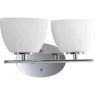 Progress Lighting Laguna Collection Chrome 2 light Vanity Fixture DISCONTINUED P3090 15WB