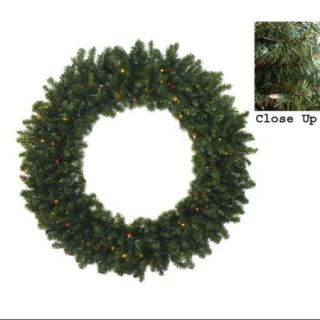 "36"" Pre Lit Two Tone Canadian Pine Artificial Christmas Wreath   Multi Lights"