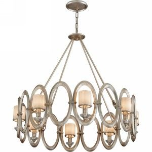 Corbett Lighting COR 134 48 Embrace Satin Silver Leaf  Pendants Lighting