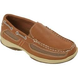 Boys Deer Stags Pal Boat Shoe Dark Tan   17160310