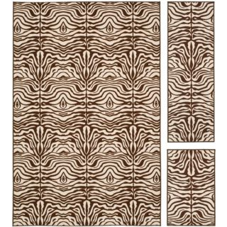 Safavieh Metropolis Tiger Cream/ Brown Rug (Set of 3)