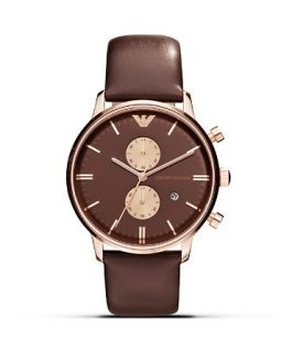 Emporio Armani 316 Stainless Steel Brown Dial Watch, 43mm