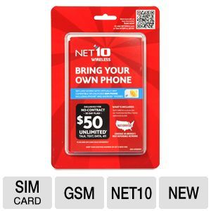 NET10 Bring Your Own Phone NT64PBYOPGSV Sim Card Starter Kit  GSM Service, Works With Any Compatible Unlocked GSM Phone, No Contract, Micro + Standard SIM Included