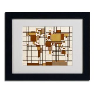 11 in. x 14 in. Mondrian World Map Matted Framed Art MT0273 B1114MF