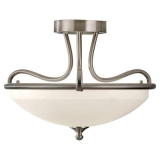 Feiss Merritt 2 Light Brushed Steel Semi Flush Mount SF295BS