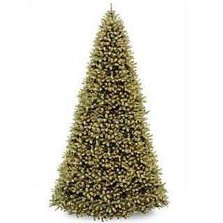 National Tree Co. Downswept Douglas Fir 12 Green Artificial Christmas Tree w/Clear Lights w/Stand