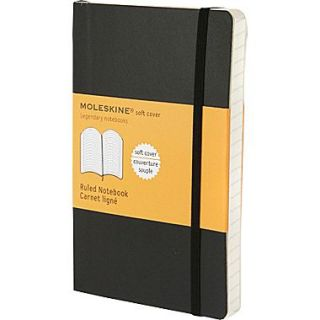 Moleskine Classic Notebook, Pocket, Ruled, Black, Soft Cover, 3 1/2 x 5 1/2