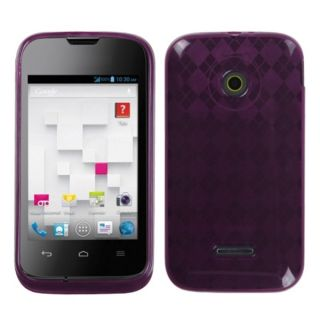 INSTEN Purple Argyle Candy Skin Phone Case Cover for Huawei U8686
