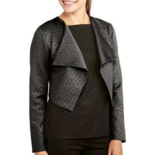 Miss Tina Women's Draped Jacket with Embossed