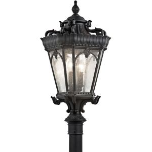 Kichler KIC 9559BKT Tournai Textured Black  Outdoor Post Lights Lighting