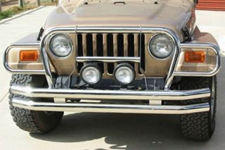 1987 2006 Jeep Wrangler Grille Guards   Rampage 7459   Rampage Euro Grille Guards