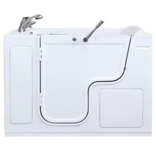 Ella Titan 4.41 ft. x 35 in. Outward Swing Hydro Massage Walk In Bathtub in White with Left Drain OW5335HL