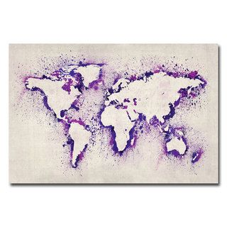 Michael Tompsett Paint Outline World Map II Canvas Art   14999058