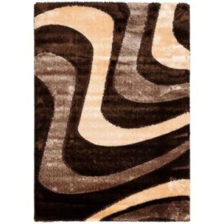 Safavieh Miami Shag Brown/Beige 3 ft. x 5 ft. Area Rug SG361 2513 3