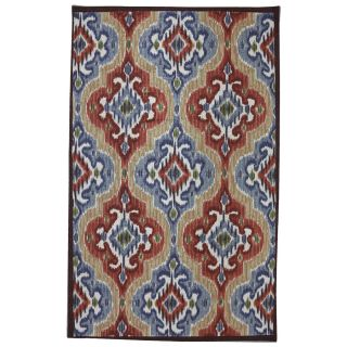 Mohawk Home Mystic Ikat Multicolor Rectangular Outdoor Tufted Area Rug (Common 5 x 8; Actual 60 in W x 96 in L x 0.5 ft Dia)