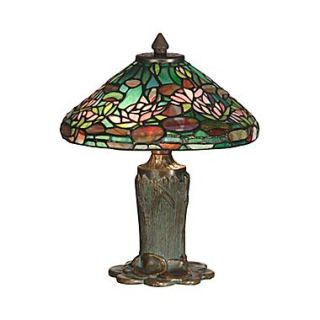 Dale Tiffany Floral Leaf 12 Table Lamp