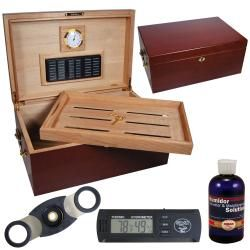 Cuban Crafters Perfect Humidor with Digital Hygrometer Set   14016894