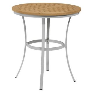 Oxford Garden Travira Cafe Bar Table   Natural Tekwood