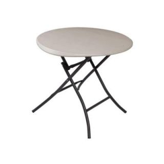 Lifetime 33 in. Round Putty Folding Table 80230