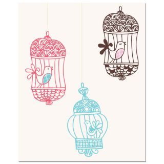 Three Bird Cages Art Print   15126494 Top
