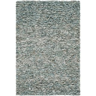 Safavieh Leather Shag Teal Area Rug