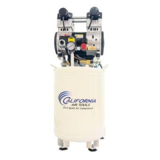 California Air Tools 10 Gal. 2 HP Ultra Quiet and Oil Free Stationary Electric Air Compressor with Air Dryer and Auto Drain Valve 10020DCAD