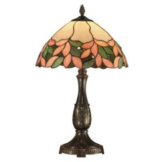 Dale Tiffany Crystal Leaf 23 in. Antique Bronze Table Lamp FTT10004