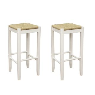 Roanoke White Wood 24 inch Counter Stools (Set of 2)
