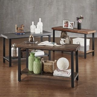 Home Styles Modern Craftsman Distressed Oak Sofa Table   17955137