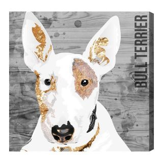 Oliver Gal Love My Bull Terrier Canvas Art   Wall Art