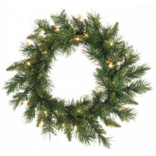 24 in. Imperial Pine Pre lit Christmas Wreath   Christmas Wreaths