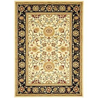 Safavieh Lyndhurst Collection Ivory/Black Area Rug Polypropylene, 9 x 12