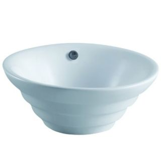 Kingston Brass EV5117 Allegro White  Vessel Single Bowl Bathroom Sinks