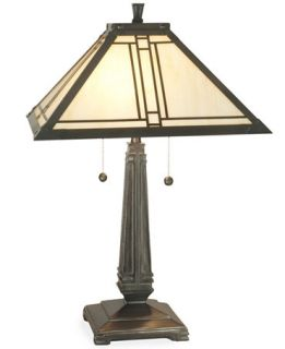 Dale Tiffany Style Lined Mission Table Lamp   Lighting & Lamps   For