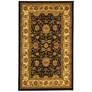 Safavieh Lyndhurst Collection Majestic Black/ Ivory Rug (33 x 53