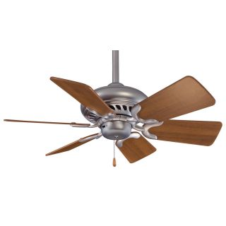 Minka Aire F562 BS DW Supra 32 Ceiling Fan in Brushed Steel with Dark Walnut Blades   blades Included