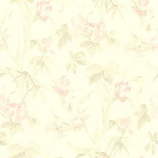 56 sq. ft. Light Pink Iris Floral Wallpaper 414 65782